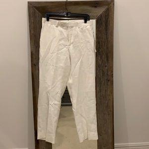 Calvin Klein Flat Front Linen Pants 32x30